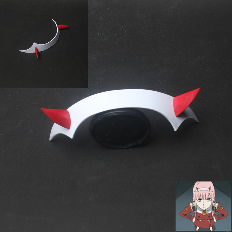 DARLING en el FRANXX Zero Two Cosplay Prop Headwear PVC Cuerno - Disfraces