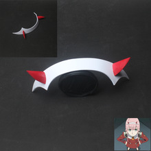 DARLING a FRANXX Zero Two Cosplay Prop fejfedő PVC Horn fejpántos Hairband-ben