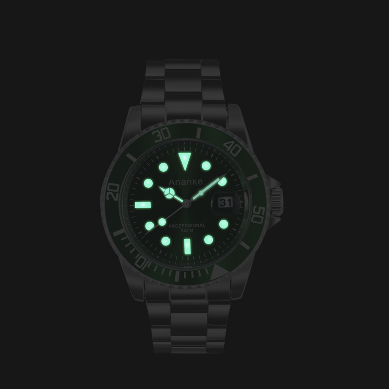 Image 3 - Mens Watches Casual Quartz Watches Men Stainless Steel Ananke Top Brand Luxury Waterproof Relogio Masculino Esportivo Clock-in Quartz Watches from Watches