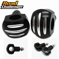 Black CNC Aluminum 1 Round Handlebar Riser Mounts Clamp Universal Motorcycle For Harley Sportster Iron XL 883 1200 883N