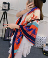 Atacado de sarja de seda cachecol marca de luxo transporte clássico contraste cor Patchwork cachecol meninas moda cinto cabeça