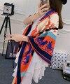 Venta al por mayor Real seda de la tela cruzada mujer de marca de lujo carro clásico del Color del contraste del remiendo bufandas niñas venda de moda cinturón