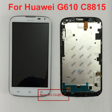 Best Working Touch Screen Digitizer LCD Display Assembly with Frame For Huawei Ascend G610 G610S C8815