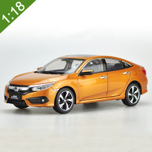New 1:18 2016 HONDA CIVIC 10 Generations Alloy Diecast Car Model Toys For Kids Christmas Gifts Collection Free Shipping(China)