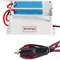 Portable Véhicule alimentation D'ozone Générateur DC12V 7G Purificateur D'air pour Voiture avec CE certificat Stérilisateur À L'ozone