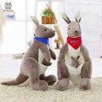 BOLAFYNIA Enfants En Peluche En Peluche Jouet Australien parent-enfant kangourou poupée Bébé Enfants Jouet pour cadeau D'anniversaire De Noël