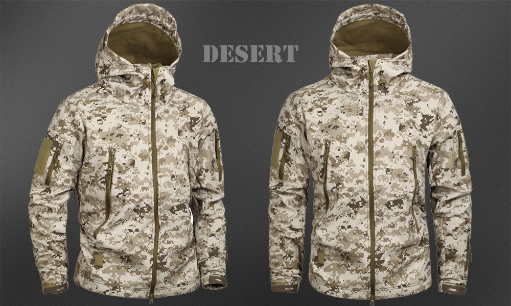 Men's Military Camouflage Fleece Jacket Army Tactical Clothing 42