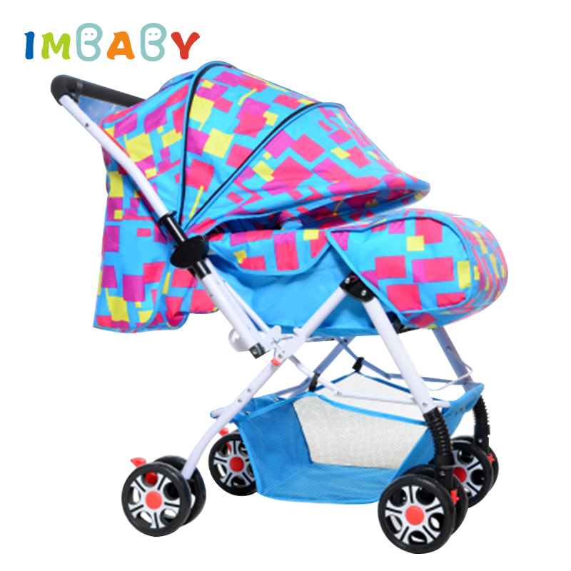 IMBABY Winter Baby Stroller Carriages For Dolls Warm Bigger Sleeping Basket Foldable Light Baby Pram Pushchair For Newborns kidstravel luxury baby stroller for baby foldable portable baby carriages for newborns pram pushchair