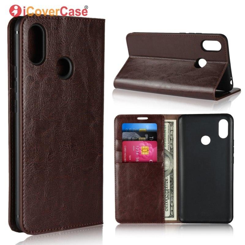 Flip-Case Wallet-Cover Etui Phone-Accessory Coque Xiao Mi-Max3-Bag Genuine-Leather Luxury