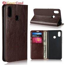 Odwróć obudowa do xiaomi mi Max 3 luksusowy prawdziwy skórzany portfel biznesowy pokrywa dla xiao mi Max3 torba akcesoria do telefonu Etui Coque