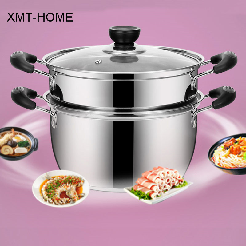 XMT HOME Kitchen Assistant Thick Two Layers Steamer