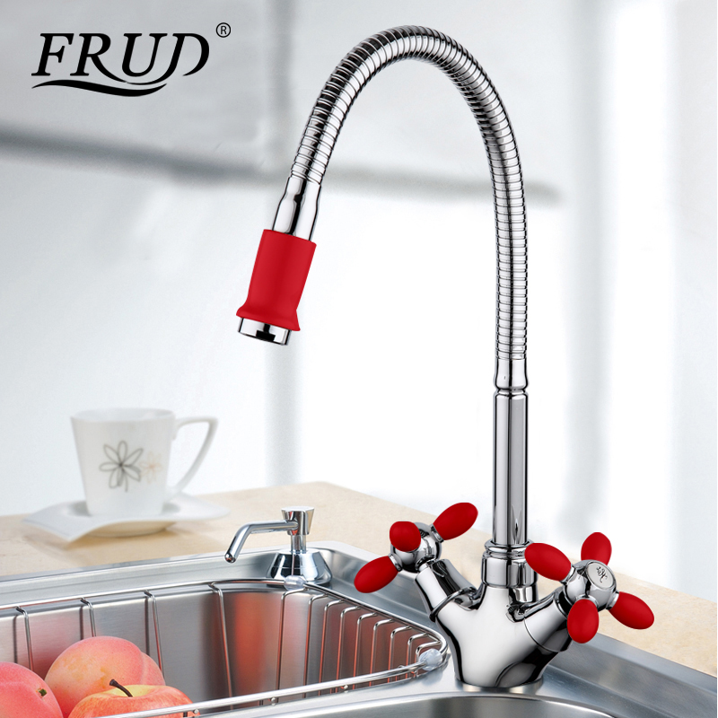 Frud new red green tall flexible kitchen tap sink drinking water ...