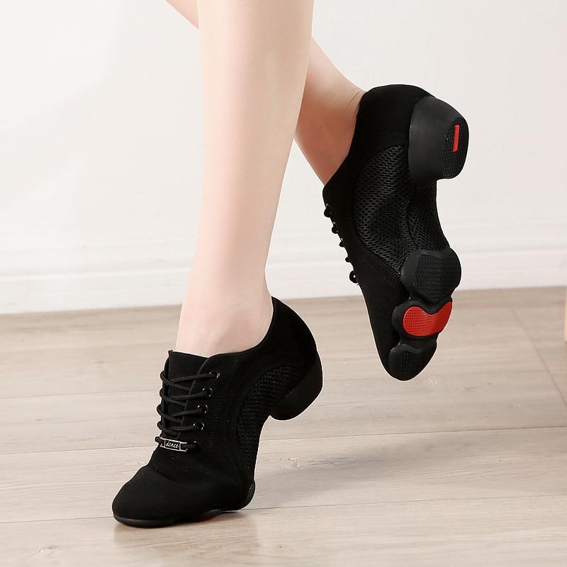 Bottom Latin Teacher Shoes Men Canvas Sports Neutral Dance Shoes Woman Oxfords Cloth Latin Dance Sneakers