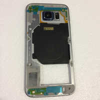 Middle Frame Bezel Housing Chassis With Back Camera Glass Lens Cover For Samsung Galaxy S6 G920