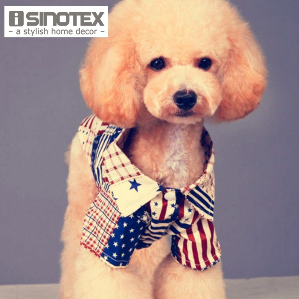 National Flag Dog Clothes T Shirt Cotton Lovely Cat Pet Clothes Vest Suit Clothing Dress For Small Dogs 1PCS/Lot