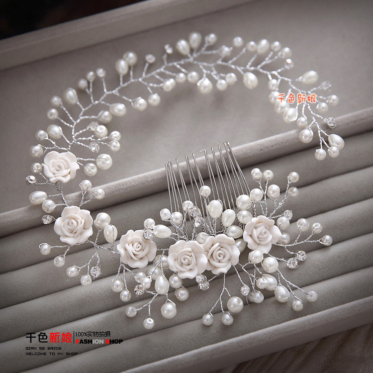 HTB1R7Q3KVXXXXaZaXXXq6xXFXXXG Gorgeous Berry And Rose Flower Wedding Prom Party Hair Jewelry For Women