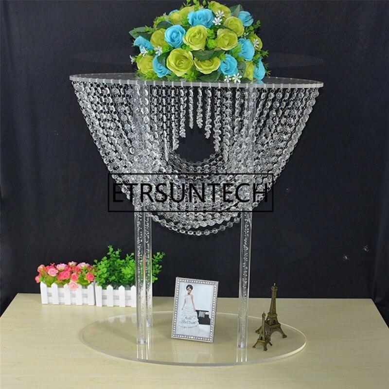 68 cm de haut acrylique cristal de mariage route plomb mariage pièce maîtresse événement fête décoration pilier chandelier fleur Vases 10 pcs/lot