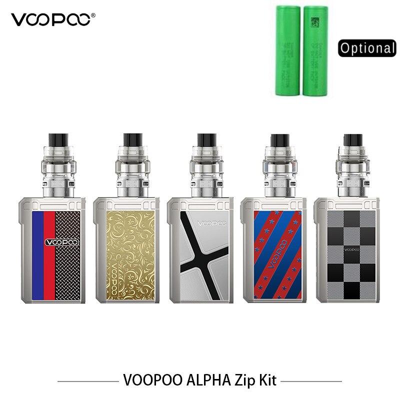 Kit de fermeture à glissière d'origine VOOPOO ALPHA 180 W boîte à glissière MOD Vape 4 ML réservoir de Maat Vape avec MT-M2 bobine de maille MT-M1 Vape de Cigarette électronique
