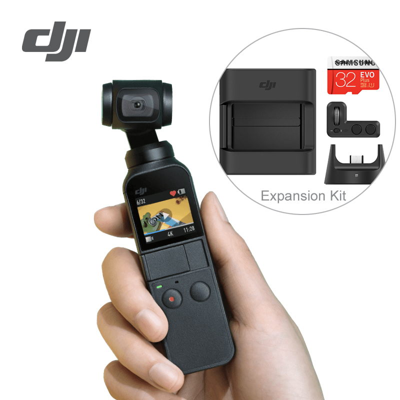 DJI Osmo Pocket 3-axis Stabilized Handheld Camera Compatible with  Smartphone 4K 60fps Video Mechanical Stabilization Lightweight