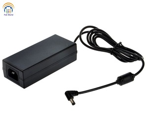 Image 1 - high quality 48V60W AC Adapter power supply max power 60W 2.1*5.5mm DC plug with power cord for PoE Patch Panel  CCTV network
