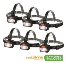 EverBrite LED Headlamp Flashlight with 2 Red Lights Camping Head Light 6PC/Lot 120 Lumens Super Bright