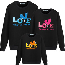 Family Matching Clothes Outfits Autumn Mother Kids Hoodies L
