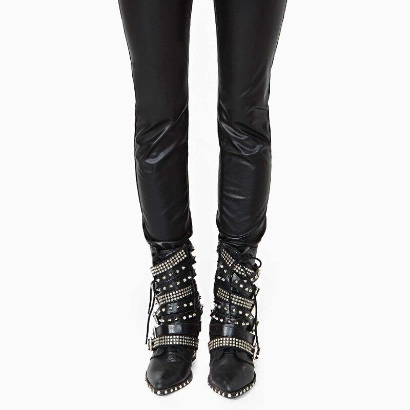 Echt Mode Ritter Kurze Qualität Leder Design Black Prova Hohe Europäischen Perfetto Alle Schwarz Schnalle 2018 Spitz Stiefel Niet 7wwOaqIF