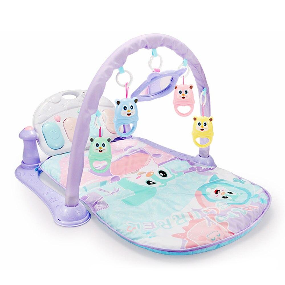 2 en 1 bébé Fitness couverture éducatif Rack jouets bébé musique jouer tapis avec Piano clavier enfants jouets éducatifs