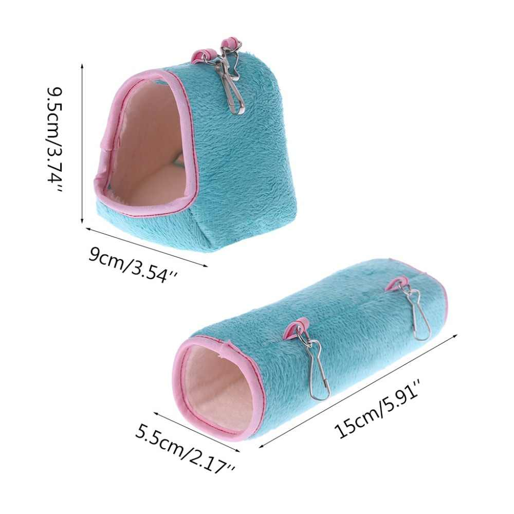 Gaiola de Hamster Cobaia Rede Cama Dormir Inverno Quente Casa de Pequenos Animais
