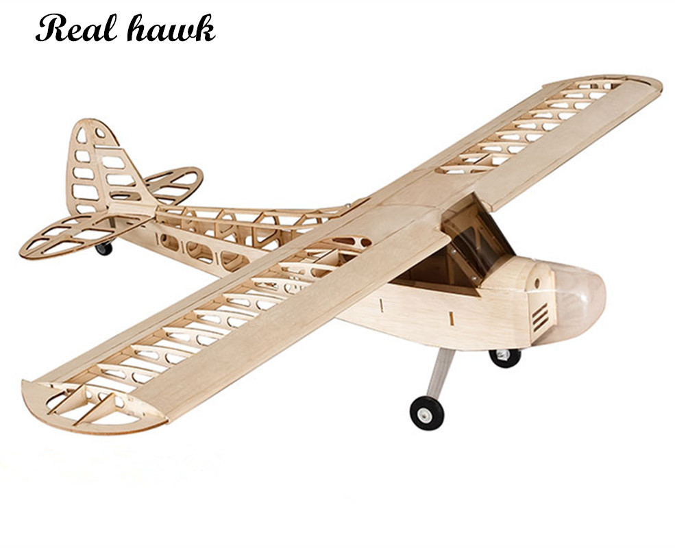 RC Plane Laser Cut Balsa Wood Airplanes Kit NEW j3 piper cub Frame without Cover Wingspan 1180mm Model Building Kit image