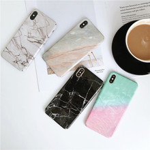 Marble Phone Case For iphone XS Max Luxury Couple iPhone X XR 6 6S 7 8 Plus Back Cover Hard PC Anti-knock Coque Fundas