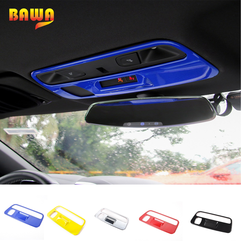HANGUP 5 Color ABS Car Interior Roof Reading Light Lamp Decoration Cover Stickers For Chevrolet Camaro 2017 Up Car Styling цена