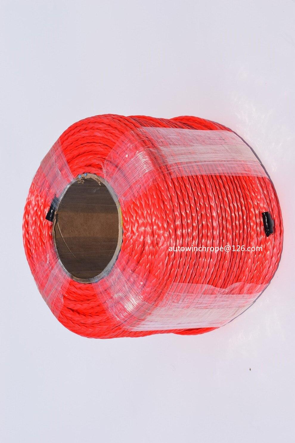 Haute Qualité Rouge 6mm * 100 m 12 Strand Synthétique Corde, ATV Treuil Câble, 12 Plait Plasma corde, Corde de Remorquage, Bateau Treuil Corde