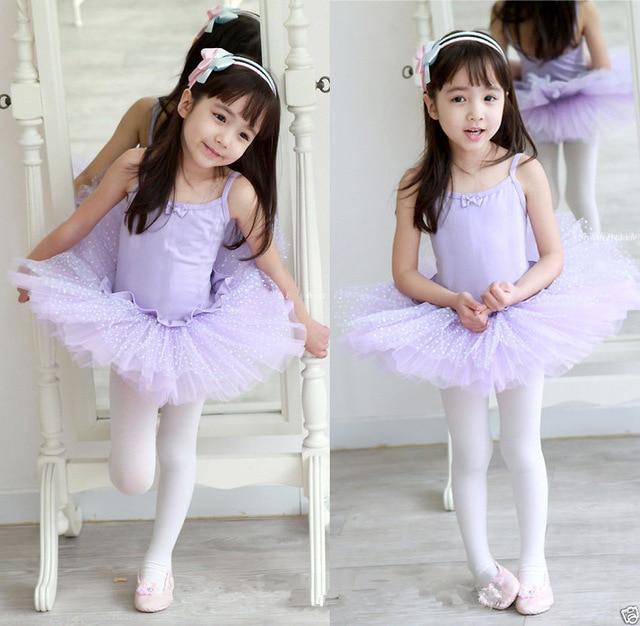 Niños algodón profesional Ballet tutú Gimnasia leotardo traje de la ...