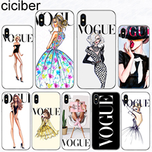 ciciber Phone Case for iPhone 11 Pro Max Woman More Vogue Cover For Iphone 8 7 6 S Plus 5S SE X XR XS MAX Soft Silicone Coque