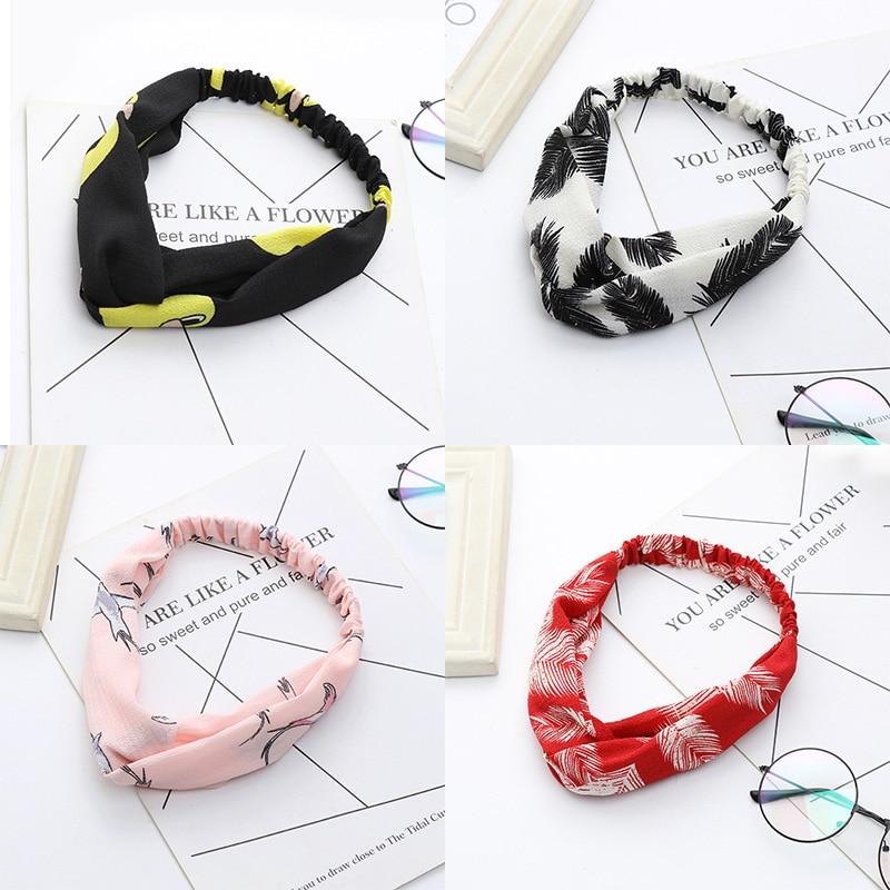 Fashion Duck Bird Leather Headbands For Women Girls Hair Ornament Turban   Headwear   Cross Knot Elastic Hairbands Hair Accessories