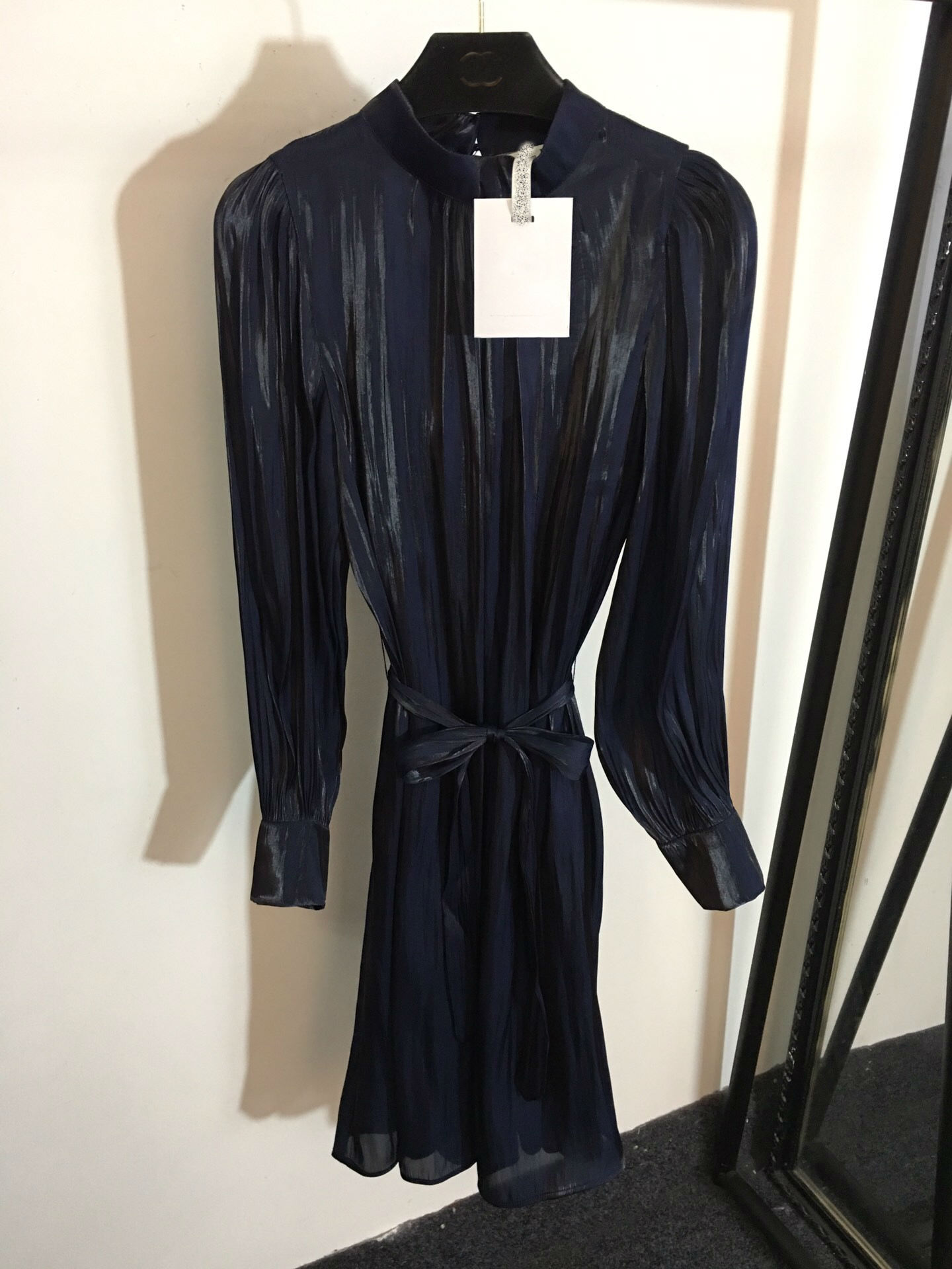 Tailles Manches 2019 Pour Vêtements 3 Nouvelle Longues Grattée Printemps pink Blue Couleur Minceur Femmes Robes 2 Matière À UU7wqIg
