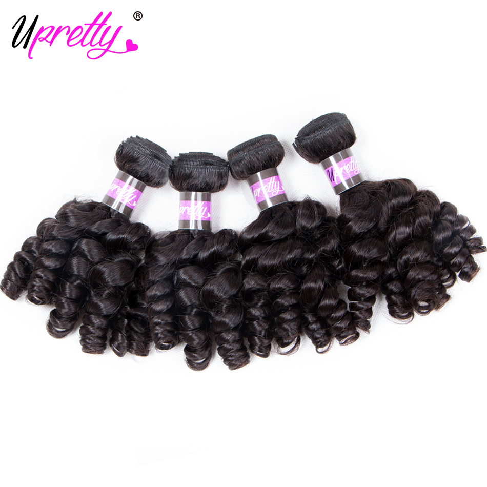 Upretty Hair Brazilian Bouncy Curly Hair Bundles 4 Pieces Remy Human Hair Extensions Weaves Funmi Curly Afro Kinky Curly Hair