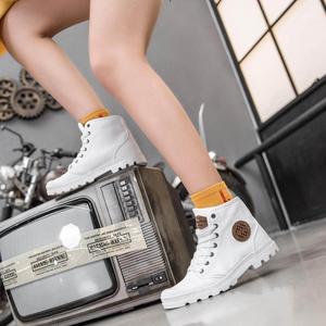 Image 2 - شاومي جوديير حذاء قماش ارتداء مقاومة حذاء برقبة للعمل خطوط غرامة رجل امرأة عالية أعلى حذاء قماش التحرير الأحذية في الهواء الطلق