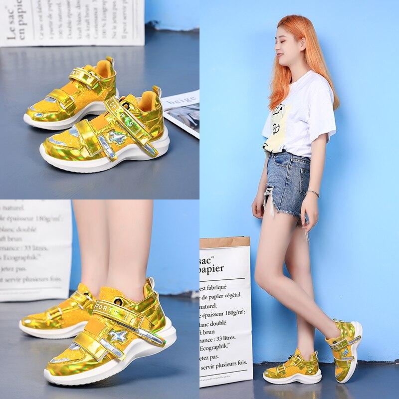 Nouveau miroir marée chaussures femmes baskets de luxe chaussures femmes designers plate-forme haute super chaussures décontractées femmes paillettes baskets - 5