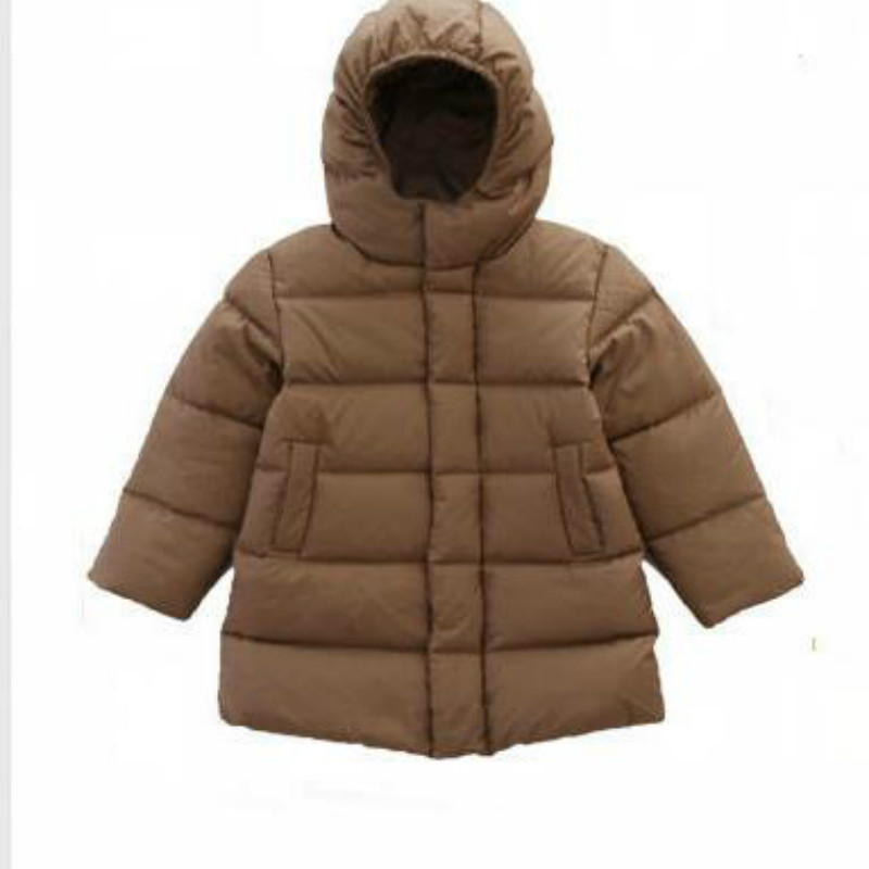Winter Hooded Down Jacket 2019 Child Thickened Boy Girl Jacket Long Baby New Duvet Thick Warm Cute Coat baby clothes Down JacketWinter Hooded Down Jacket 2019 Child Thickened Boy Girl Jacket Long Baby New Duvet Thick Warm Cute Coat baby clothes Down Jacket