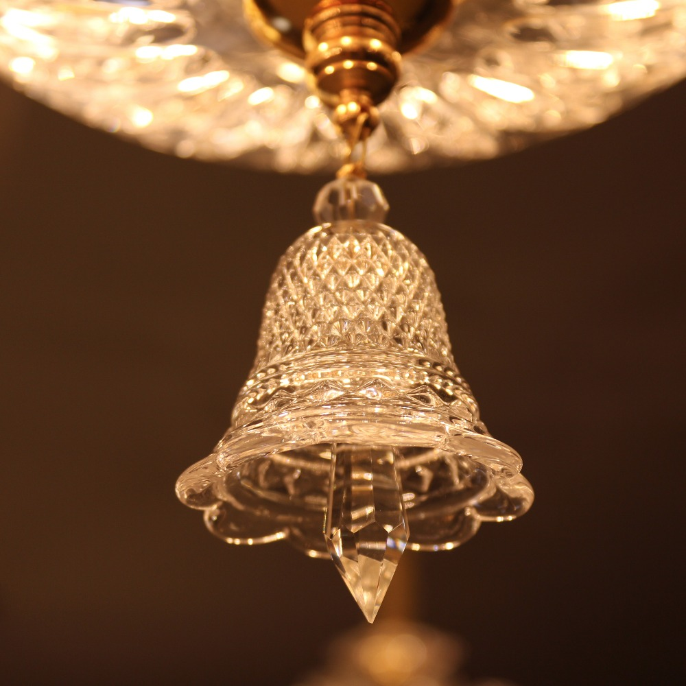 Sol Glass Small Clear Christmas Bell Crystal Hanging Drop Baccarat Style Chandelier Curtains In From Lights Lighting