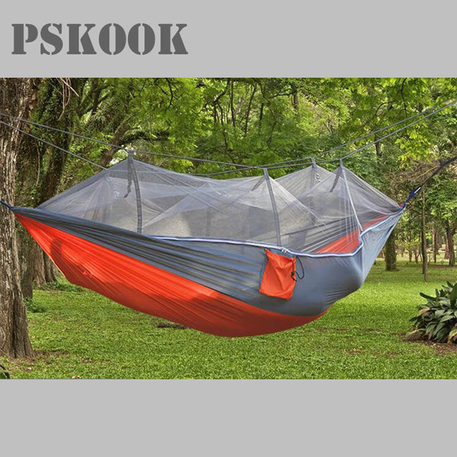 pskook nylon camping hammock with mosquito   lightweight parachute portable pouch hang tent hammock hiking outdoor pskook nylon camping hammock with mosquito   lightweight      rh   aliexpress