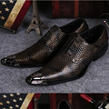 Vintage Skull Designs Brogues Men Oxford Shoes Pointed Toe Mens Dress Shoes Snake Skin Leather Men Formal Shoes Chaussure Homme