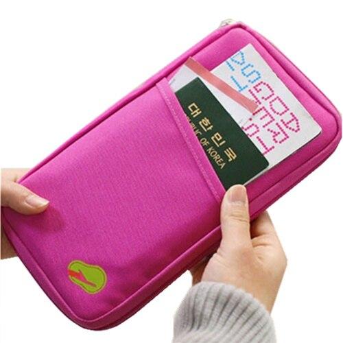New Brand Portable Travel Passport bag Credit ID Card Cash Organizer Holder Wallet HandBag Storage Pouch pocket travelus Folder