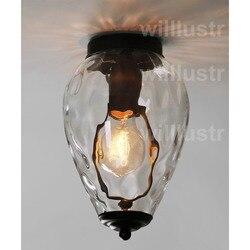 Потолочная лампа willlustr, прозрачная стеклянная лампа в горошек с ананасом, водяная волна, Скандинавское освещение