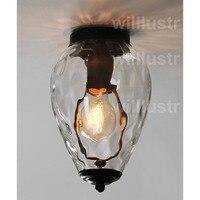 Willlustr прозрачное стекло потолочный светильник прозрачный стеклянный абажур света ананас в горошек волна воды кристально nordic освещения