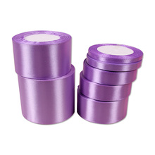 Ribbons Silk-Tapes Decorative Wide for Needlework Gift Purple Satin Diy Any-Size Pale