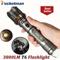 3800lm Torch CREE T6 5 modes LED Tactical Flashlight Torch Waterproof Hunting Light Lantern zaklamp taschenlampe torcia ZK93