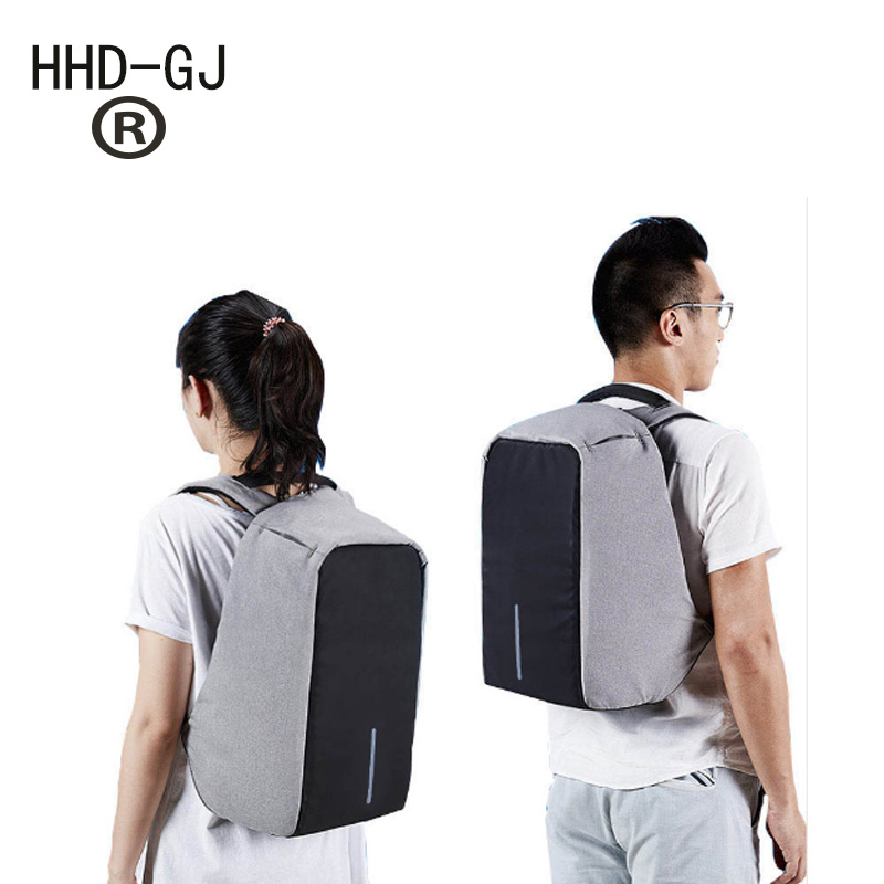 HHD-GJ New Arrive Anti-theft Notebook Backpack 17.3 inch Waterproof Computer Backpack Men Women Laptop Bag External USB Charge
